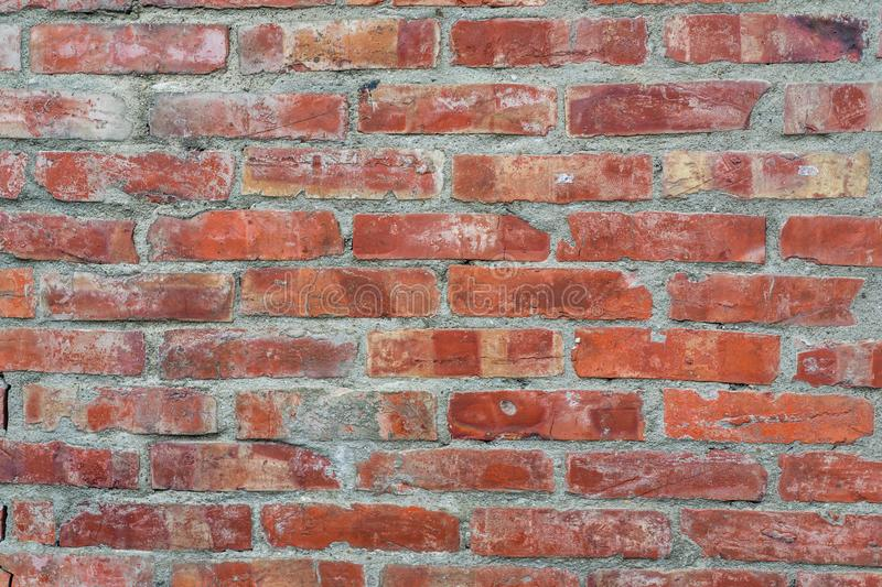 Surface of old brick wall, Textures background wallpaper stock photo