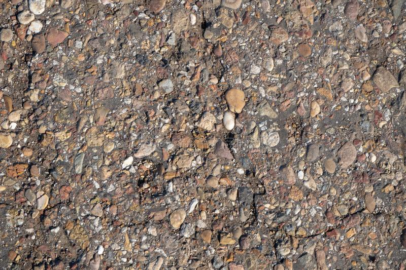 The surface of the roadway close up. royalty free stock photography