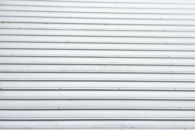 This is the surface of the roof from top view. it was built from gray aluminium, It looks like a straight line, many rows royalty free stock photography