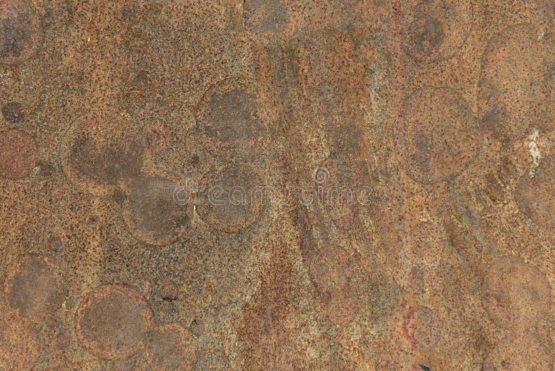 Surface rouillée de feuille de fer photographie stock
