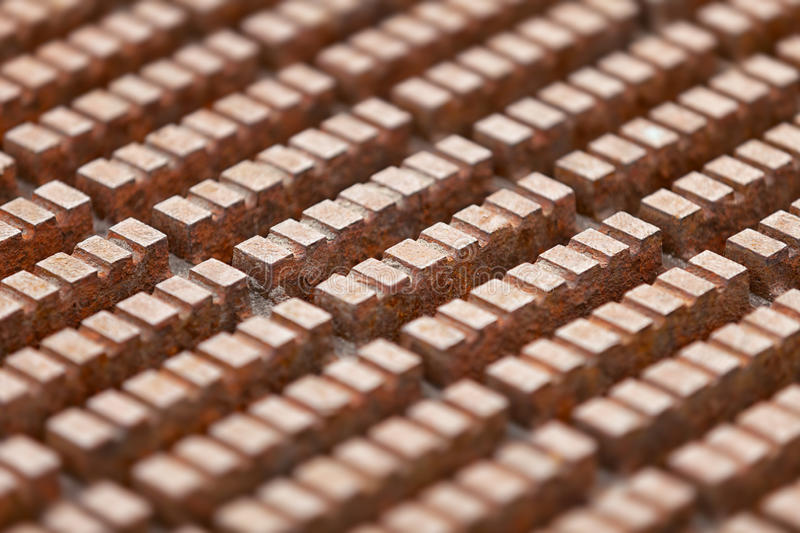 Surface of rusty steel deck in an industrial building stock images