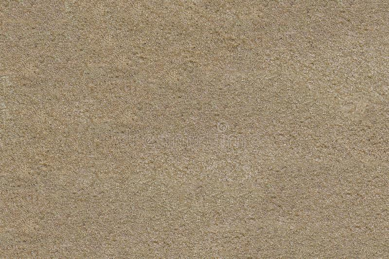 The surface of the sandy beach. Grainy texture stock photography
