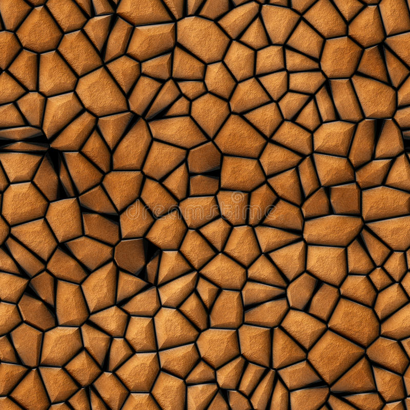Surface stones abstract seamless texture. Generated vector illustration
