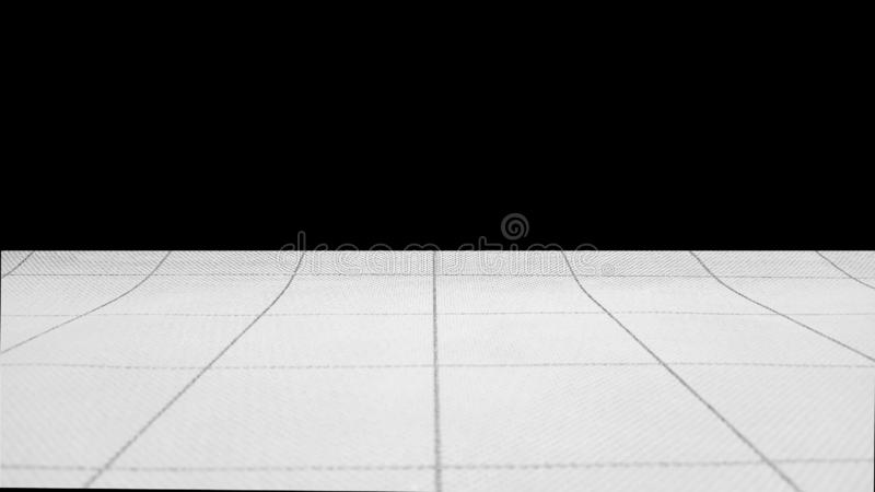 The surface of the tectured material in a large cell and thin dark lines. Above the horizon is black. �opy space. Inside. The surface of the tectured royalty free stock images