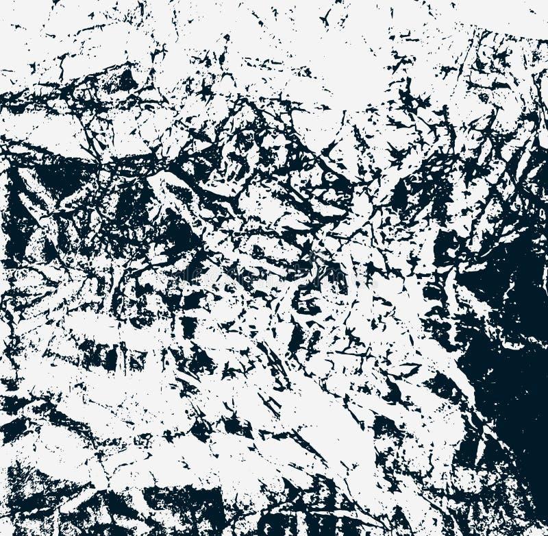 Surface texturisée de tache Illustration de vecteur Vieille abstraction endommagée rayée Papier peint de fente illustration libre de droits