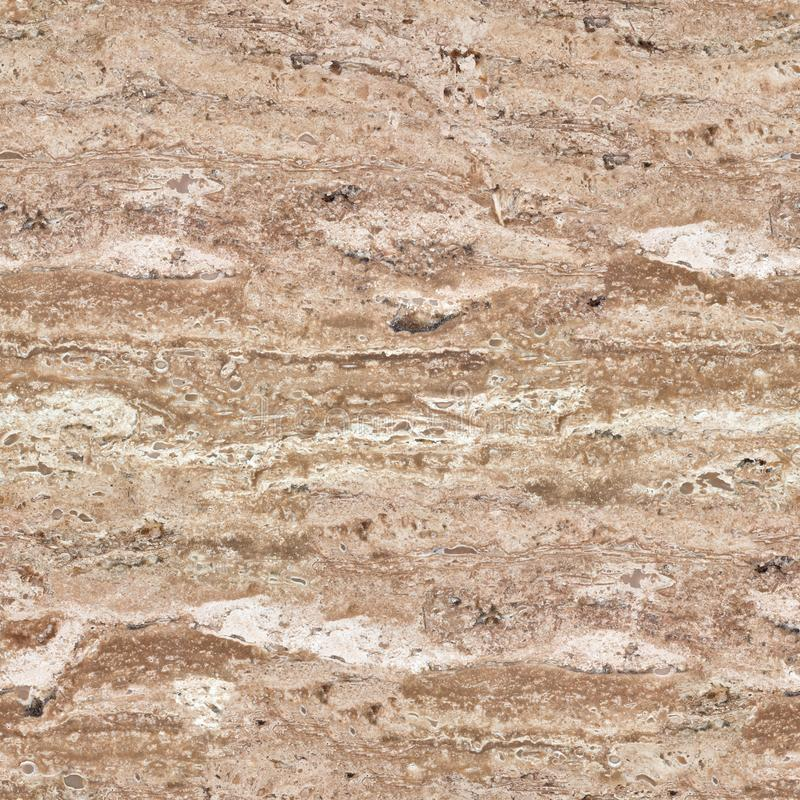 Surface of travertine stone in close-up. Abstract texture. Seaml stock photos