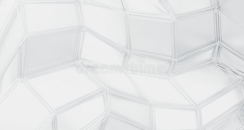Surface triangulée de résumé basse poly illustration de vecteur