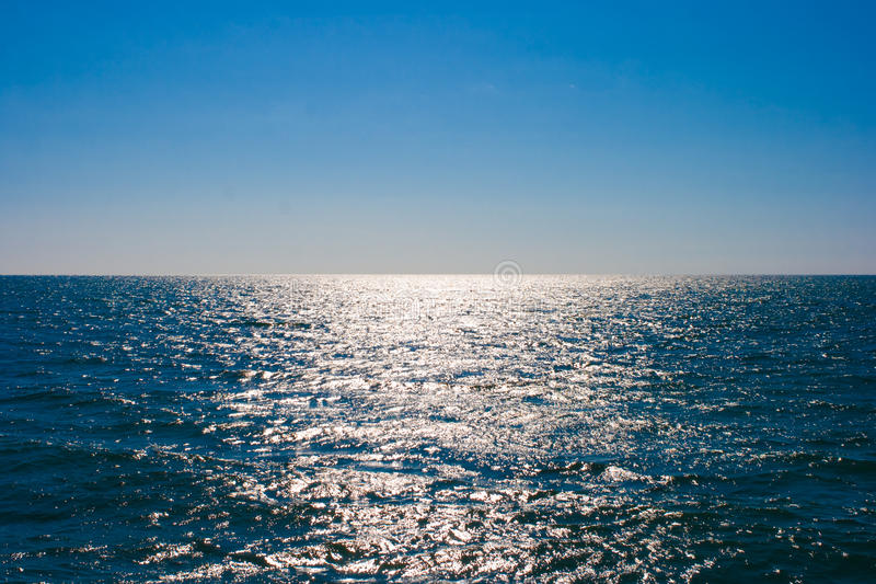 surface vatten för horisonthavhav fortfarande arkivbilder