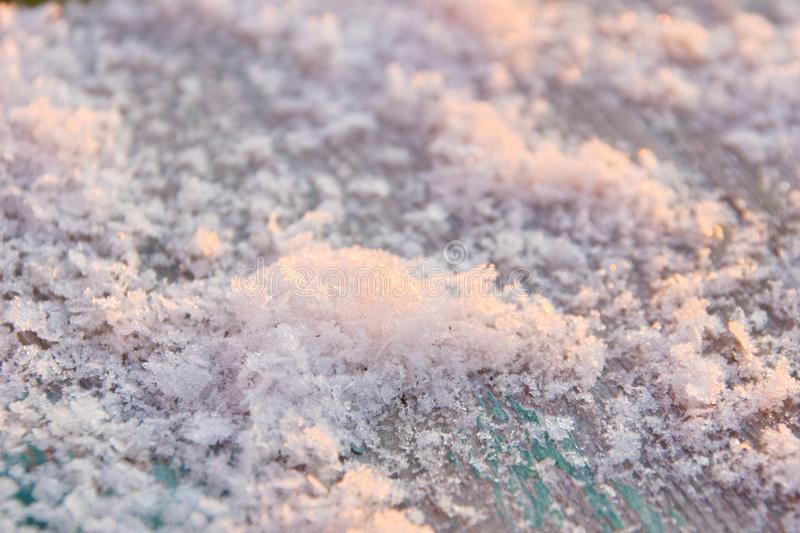Surface of the white fresh snow winter background close up for design. The surface of the white fresh snow winter background close up for design royalty free stock image