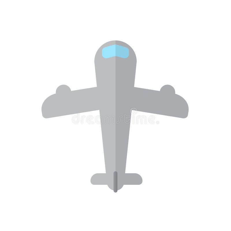 Surfacez, icône plate d'avion, signe rempli de vecteur, pictogramme coloré d'isolement sur le blanc illustration libre de droits
