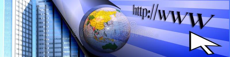 Surfando o WWW e o comércio electrónico ilustração stock