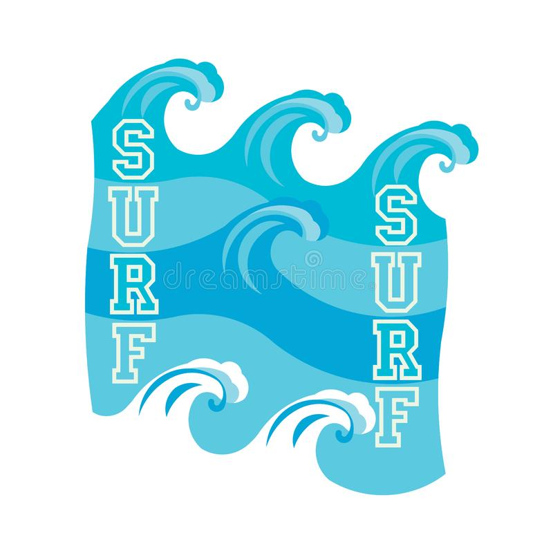 Surfando, t-shirt surfando de Miami Beach, Florida ilustração stock