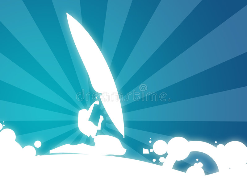 Surfar ilustração stock