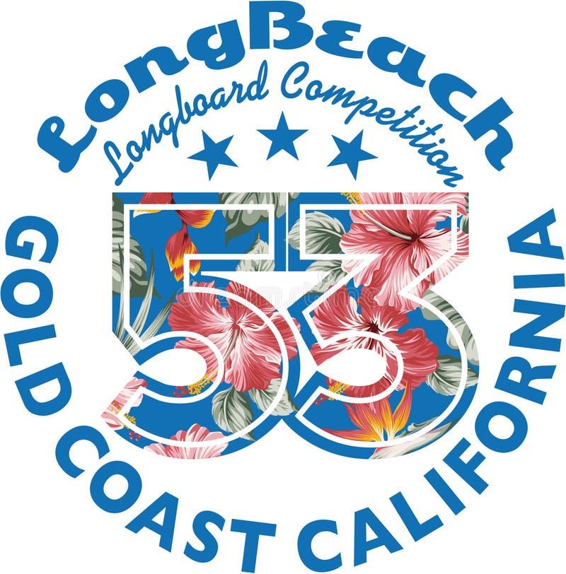 Surfar de Long Beach ilustração royalty free