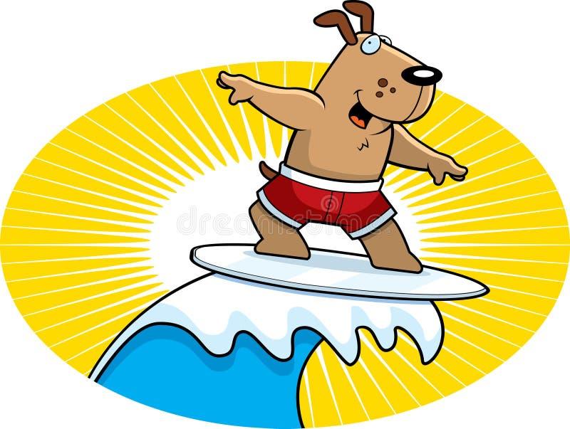 Surfar do cão ilustração do vetor