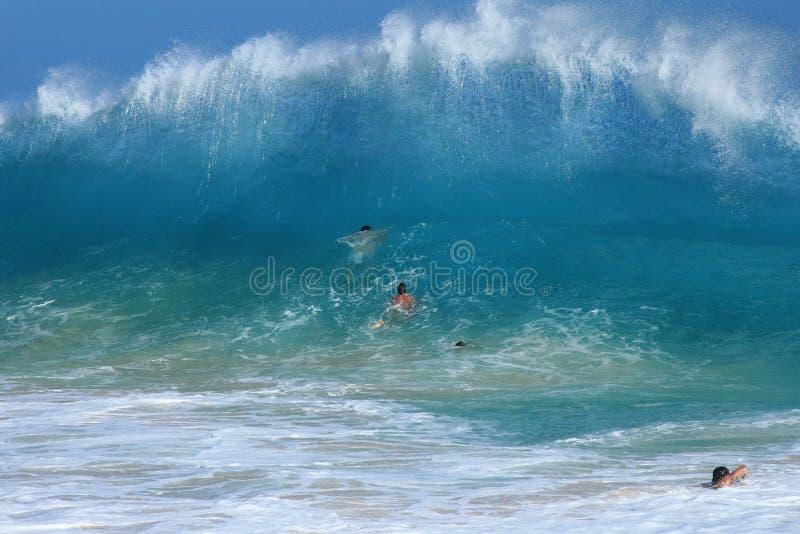 Surfar do corpo do Sandy Beach imagem de stock royalty free