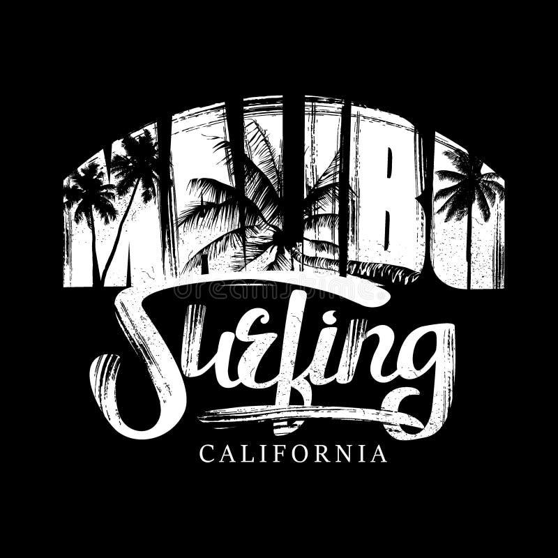Surfar em Califórnia ilustração stock