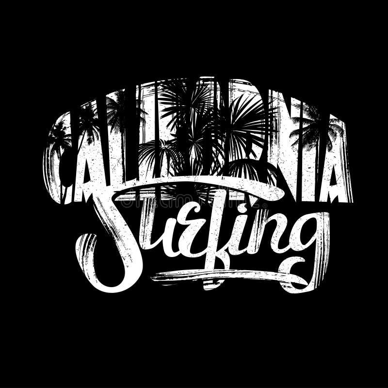 Surfar em Califórnia ilustração do vetor