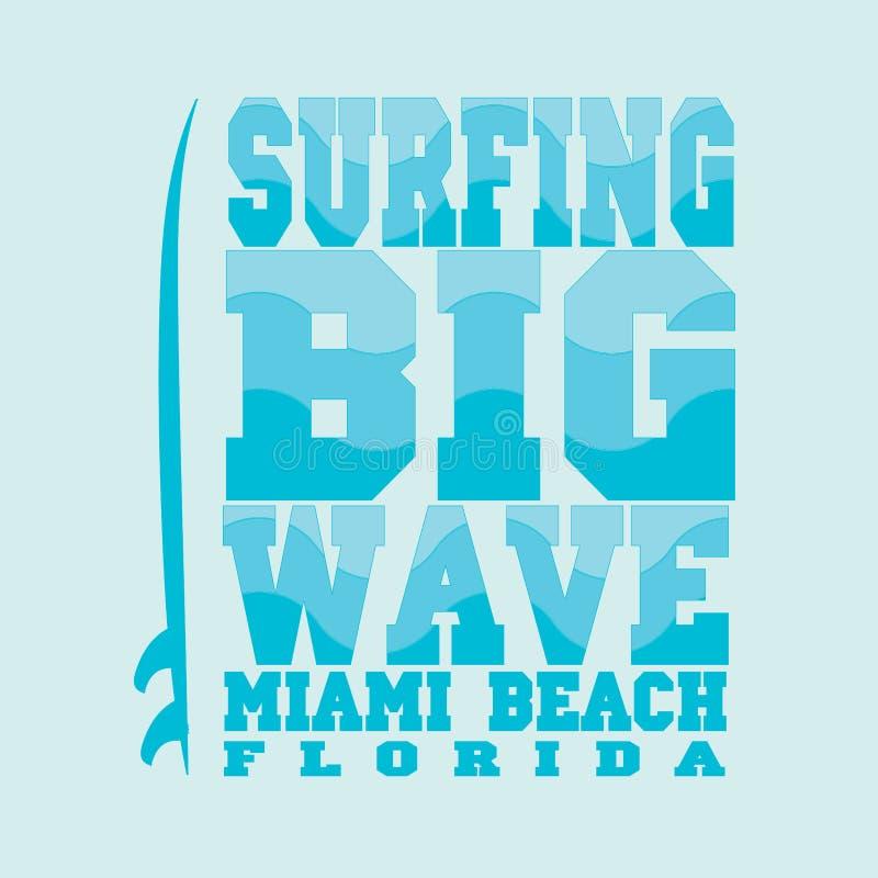 Surfar, Miami Beach, Florida ilustração stock