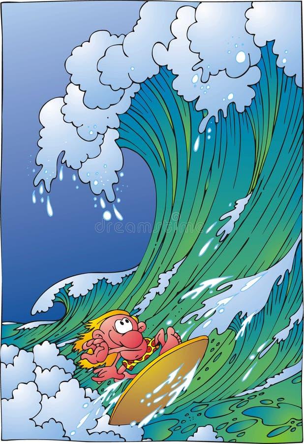 surfare royaltyfri illustrationer