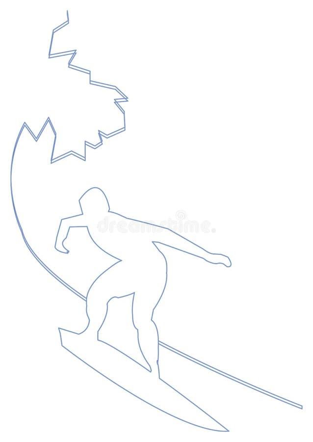 Download Surfare stock illustrationer. Illustration av surfare, utomhus - 508155