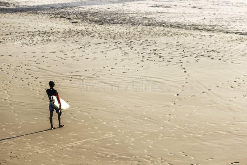 Surfare i Brasilien arkivfoton