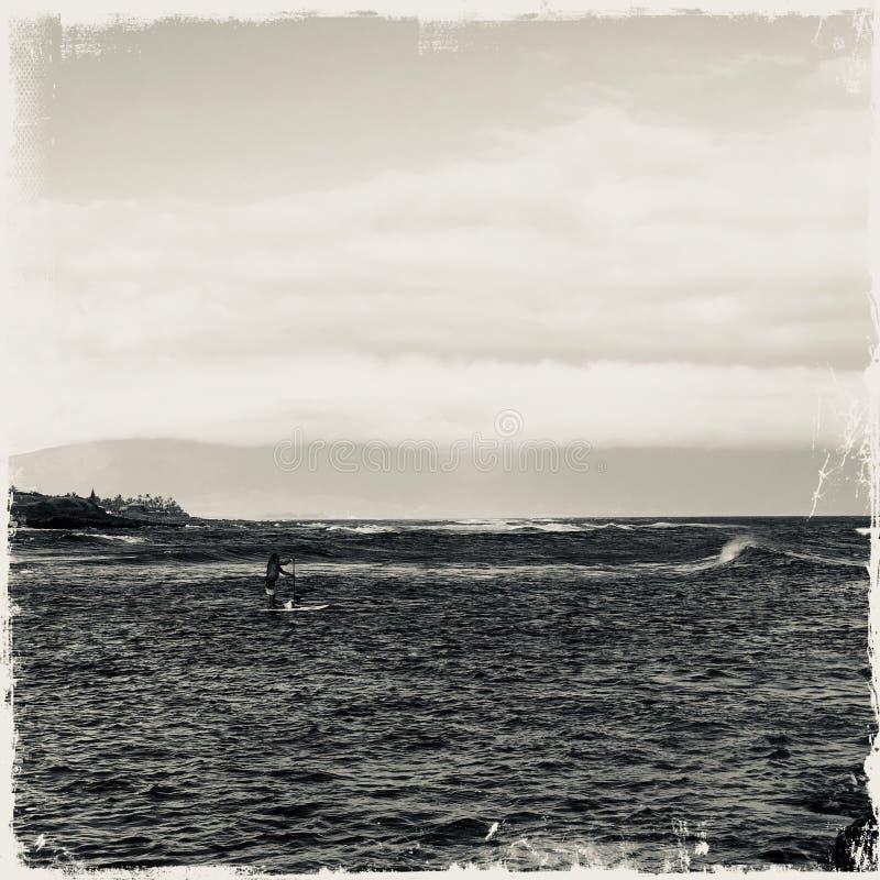 Surfare i Haleakala i Maui arkivbilder