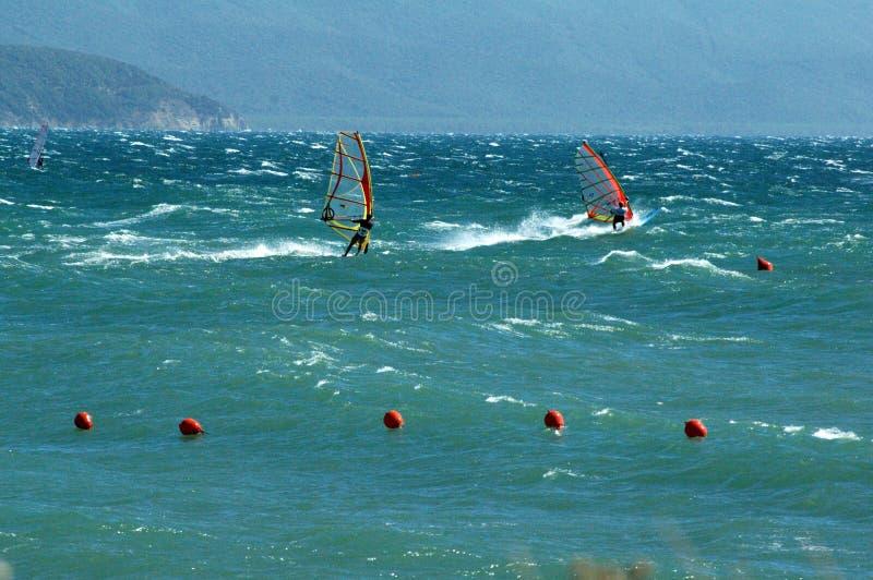 surfare två arkivfoto