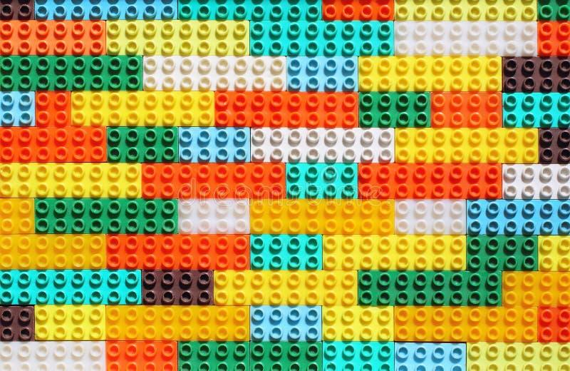 Surfase completamente de Toy Designer Pieces colorido foto de stock royalty free