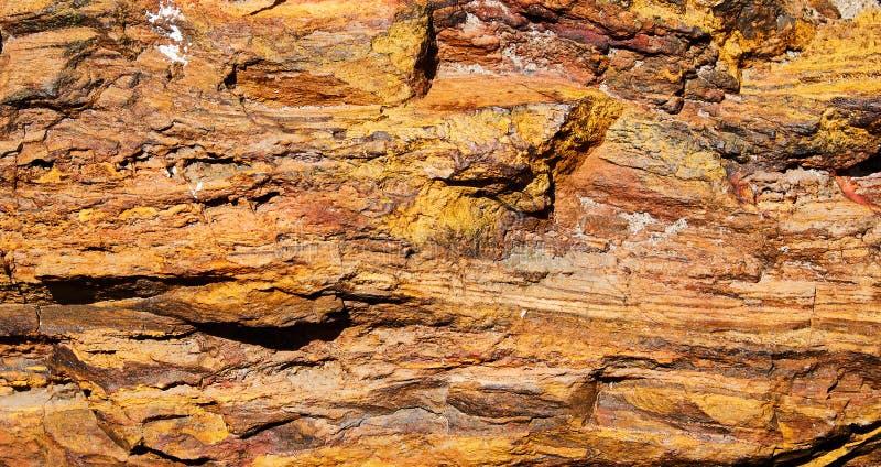 Surfase rosso del minerale di ferro fotografia stock