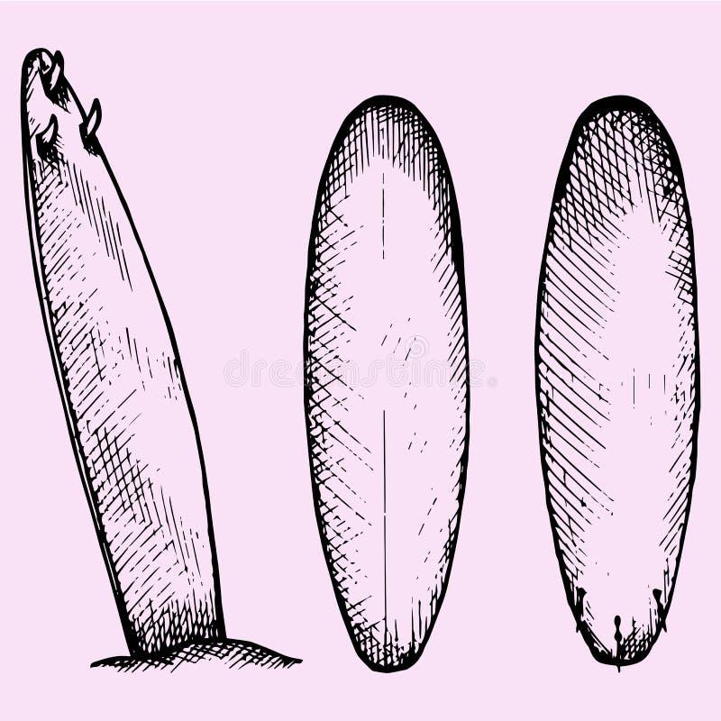 surfboard illustration libre de droits