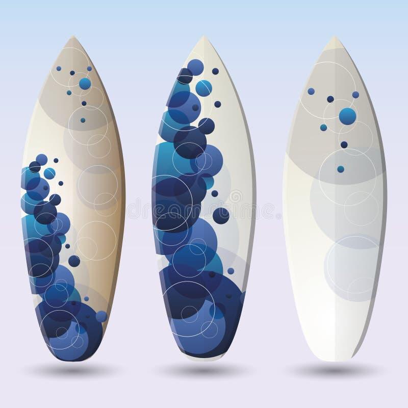 Surfboard błękitny Wektorowi Projekty ilustracja wektor