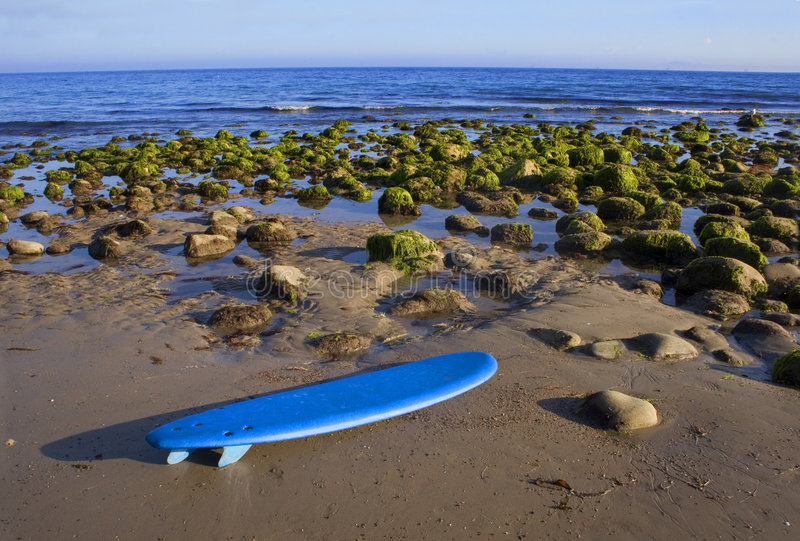 Surfboard on the Beach Landscape stock photography