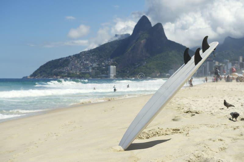 Surfboard Ipanema plaża Rio De Janeiro Brazylia zdjęcie stock