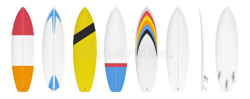Surfboard obyczajowy projekt royalty ilustracja