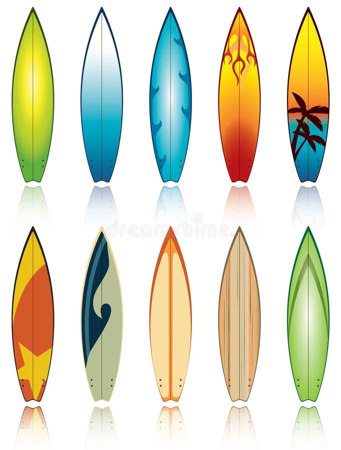 surfboards royalty ilustracja