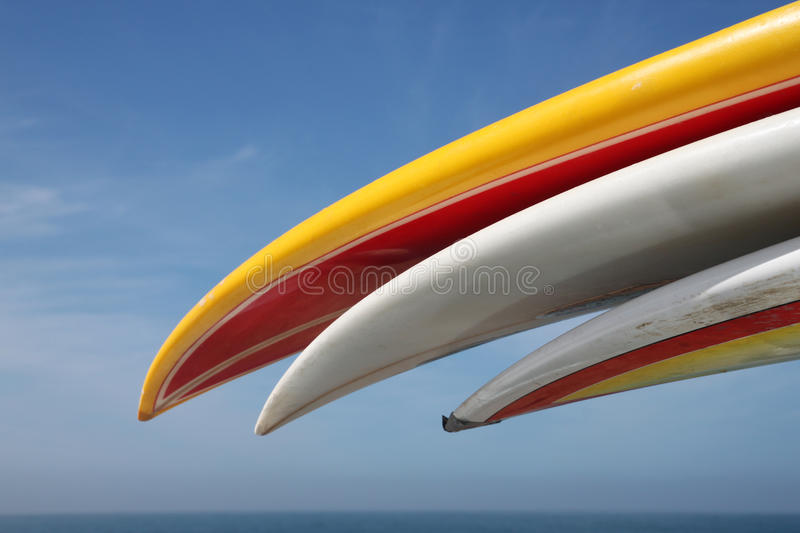 Surfboards on the roof rack stock photography