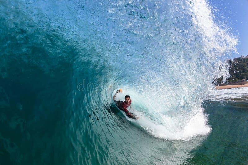 Surfend van de lichaam-Pensionair de Golfwater Buisrit stock afbeeldingen