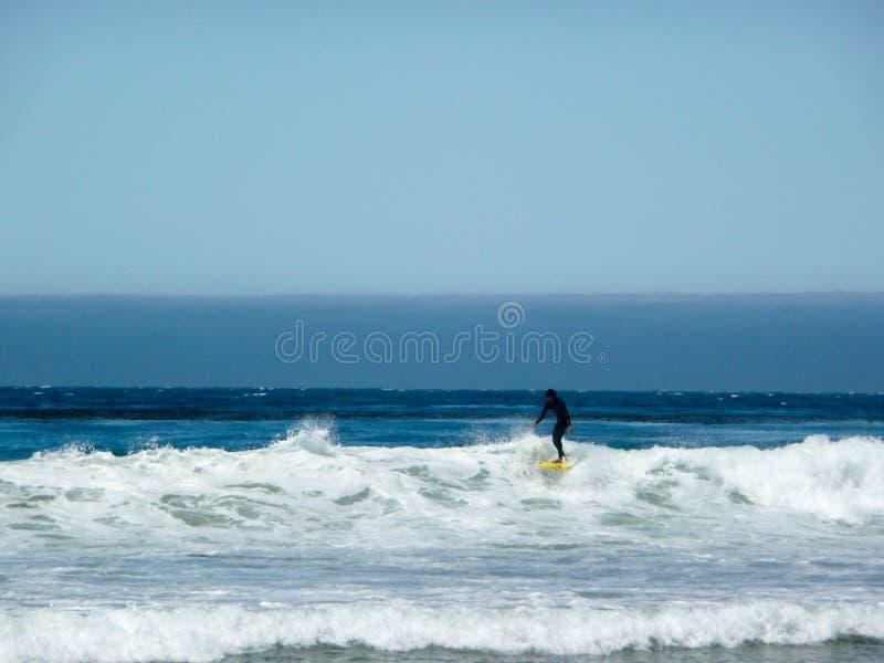 Surfer στη Σάντα Μόνικα, Καλιφόρνια στοκ φωτογραφία