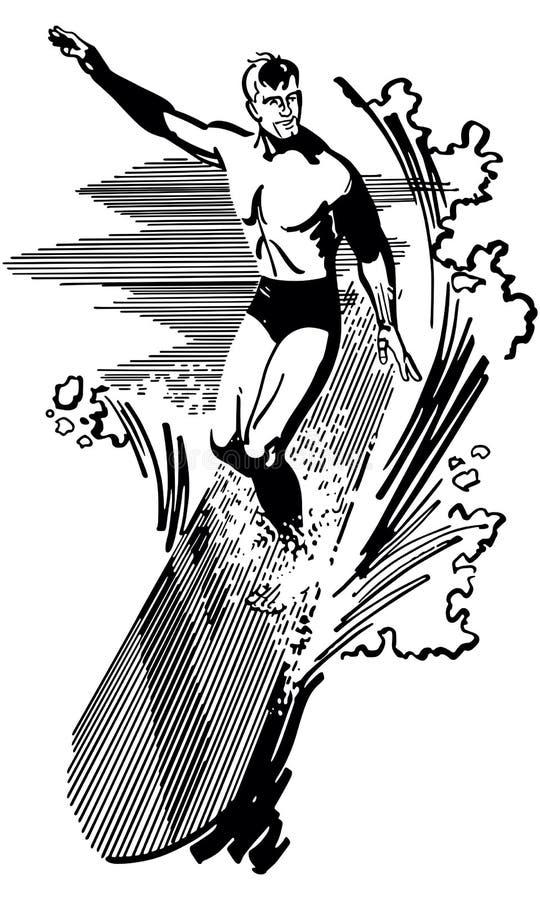 surfer royalty ilustracja