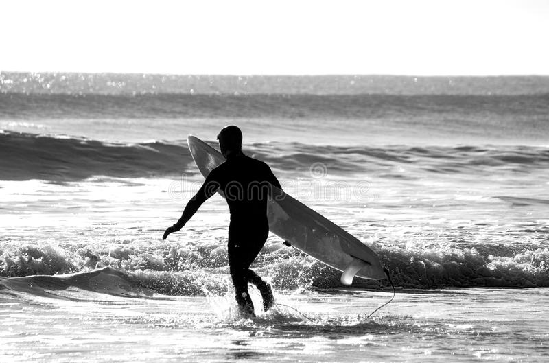 Surfer image stock