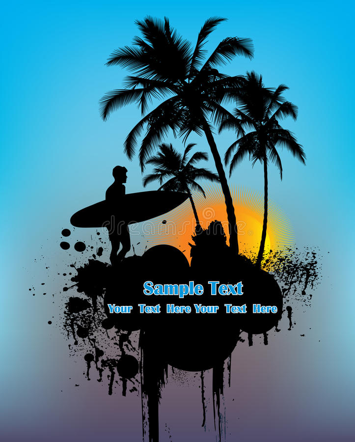 Download Surfer stock illustration. Image of outdoor, idyllic - 14752277