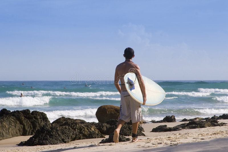 Surfer 2 Australia stock photography