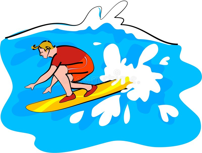 Surfer royalty-vrije illustratie