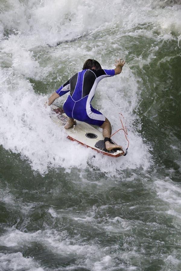 Surfer. On riva Isar, Munich, Germany stock image