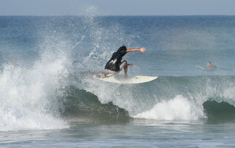 Surfer. Surf in puerto escondido royalty free stock photography