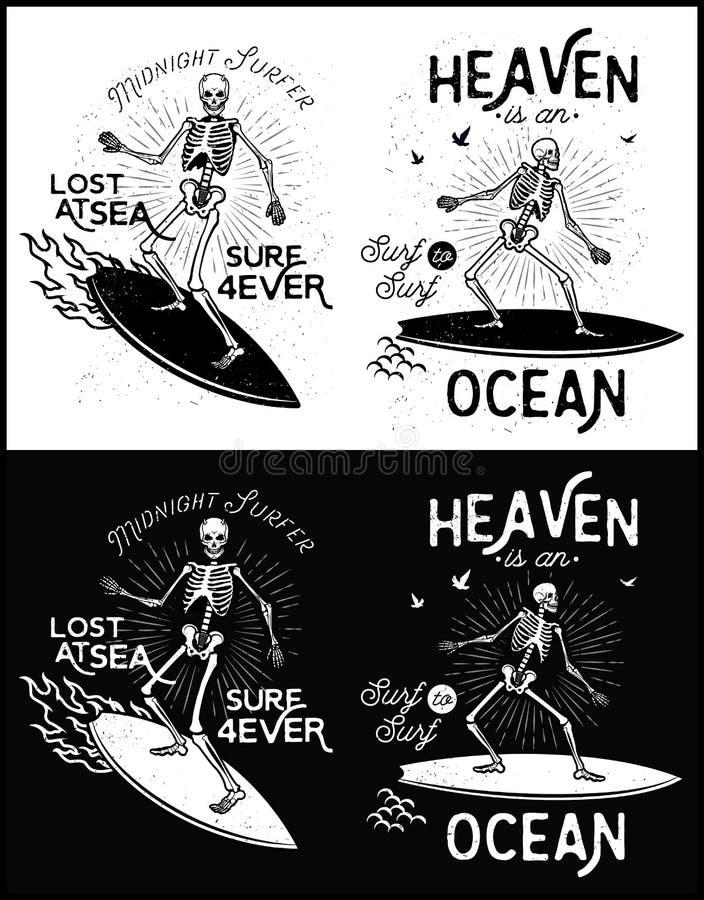 Surfer illustration de vecteur