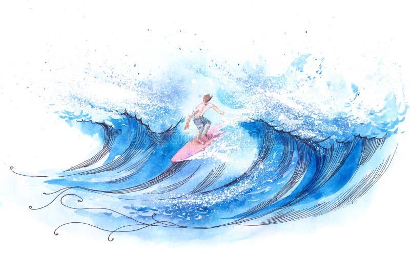 Surfer vector illustratie