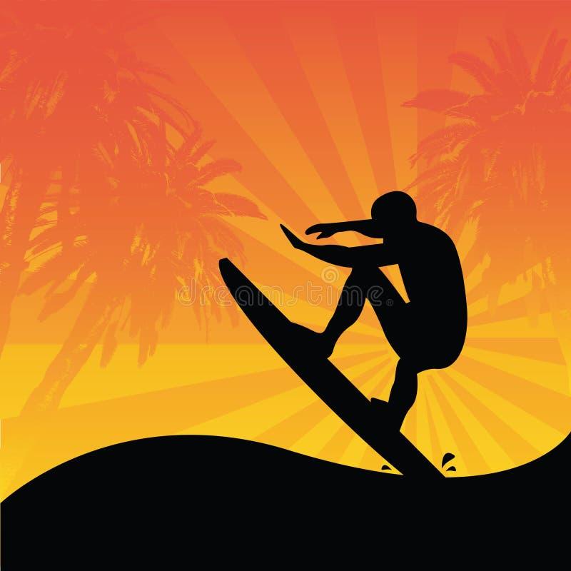surfer illustration libre de droits