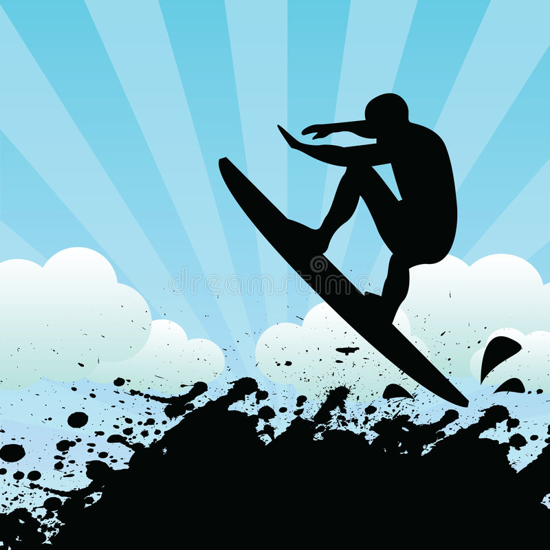 surfer illustration stock
